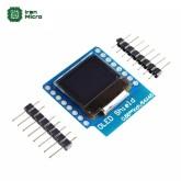 شیلد نمایشگر OLED سایز 0.66 اینچ - با ارتباط I2C - مخصوص Wemos D1