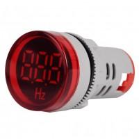 فرکانس متر AC تابلویی (چراغ سیگنالی) - 20 تا 75 هرتز - قرمز