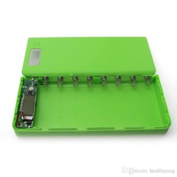 ماژول و قاب پاور بانک 30000mAh با خروجی 1A و 2A با نمایشگر و چراغ LED - رنگ سبز