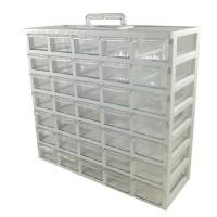 جعبه 35 کشو سفید (5*7) - کیان تکنیک - بدنه و کشو محکم