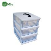 جعبه قطعات 3 طبقه دسته دار - سایز بزرگ - ساخت قناد پلاست
