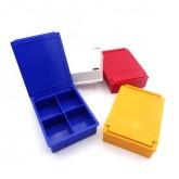 جعبه قطعات 4 خانه کوچک رنگی