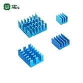 ست 4 عددی هیتسینک های رزبری پای 4x Aluminum HeatSink for Raspberry Pi - رنگ آبی