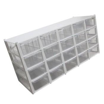 جعبه قطعات 20 کشو (5*4) کوچک - سفید (با جدا کننده داخلی)