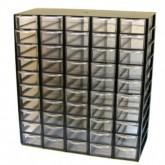 جعبه قطعات 50 کشو (5*10) مشکی (با جدا کننده داخلی)