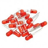 LED قرمز مات 5mm - بسته 10 تایی