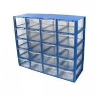 جعبه قطعات 20 کشو (5 طبقه * 4 کشو) - آبی