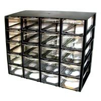 جعبه قطعات 20 کشو (5 طبقه * 4 کشو) - مشکی