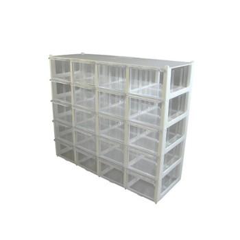 جعبه قطعات 20 کشو (5 طبقه * 4 کشو) - سفید