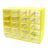 جعبه قطعات 20 کشو (5 طبقه * 4 کشو) - زرد