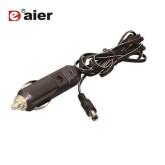 فیش فندکی سیم دار با سر آداپتوری و LED - مدل DAIER DR-02