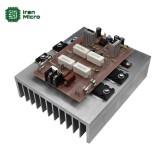 آمپلی فایر ترانزیستوری 300 وات مونو با هیتسینک کلاس AB
