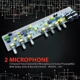پری آمپلی فایر با ورودی 2 میکروفون و تون کنترل و اکو - مدل SK1