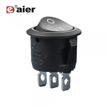 کلید راکر گرد 2 حالته - 3 پایه - بدون چراغ - DAIER KCD1-5-102