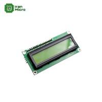 LCD کاراکتری 16*2 بک لایت سبز با ارتباط سریال (دارای مبدل سریال 2 سیمه)