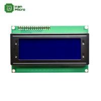 LCD کاراکتری 20*4 بک لایت آبی با ارتباط سریال (دارای مبدل سریال 2 سیمه)