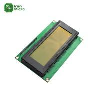 LCD کاراکتری 20*4 بک لایت سبز با ارتباط سریال (دارای مبدل سریال 2 سیمه)