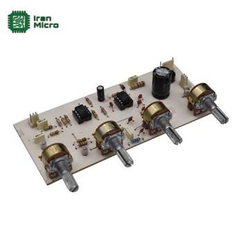 ماژول پری آمپلی فایر و تون کنترل 4 پارامتری استریو (منبع تغذیه دار تک ولتاژ - کد 432)