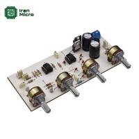 ماژول پری آمپلی فایر و تون کنترل 4 پارامتری استریو (منبع تغذیه دار دوبل ولتاژ - کد 434)