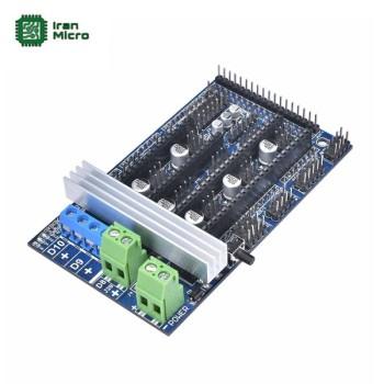 شیلد کنترل پرینتر سه بعدی - RAMPS ورژن 1.6 (RepRap Arduino Mega POLOLU Shield)