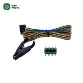 کلیپس (گیره فنری) تبدیل SMD SO16 به دیپ 16 پایه - همراه با کابل و بورد
