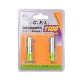 باتری قلمی AA - شارژی CFL 1100mAh - بسته 2 عددی
