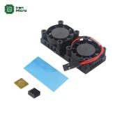 فن دوقلو (دوبل) همراه با هیتسینک های مخصوص رزبری پای - Double Fans Radiator for Raspberry Pi