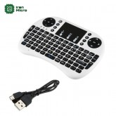 مینی کیبورد وایرلس Mini Keyboard با باتری شارژی - سفید