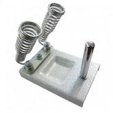 پایه هویه دوبل فلزی + نگهدارنده قرقره لحیم