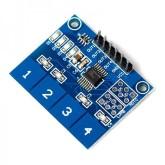 ماژول صفحه کلید خازنی 4 تایی TTP224