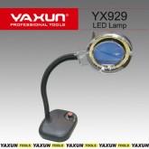 چراغ کار ذره بین دار (ذره بین رو میزی) - LED دار + دیمر Yaxun YX-929