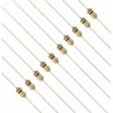 رنج کامل مقاومت های 1/8 وات - 89 رنج - بسته های 10 تایی