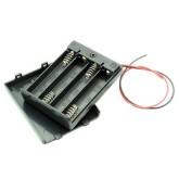 جا باتری نیمه قلمی 4 تایی درب دار + کلید | خارجی