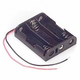 جا باتری نیمه قلمی 3 تایی - خارجی | سیم دار (بدون درب)