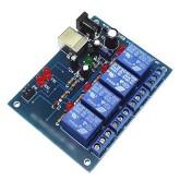 برد کنترل 4 کاناله لوازم برقی یا الکتریکی با کامپیوتر - 4Channel USB Relay Controller