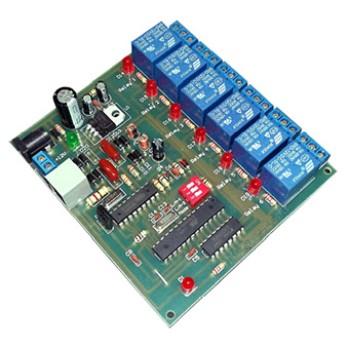 بورد کنترل از طریق خط تلفن 6 کاناله