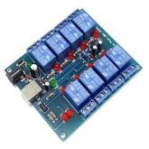 برد کنترل 8 کاناله لوازم برقی یا الکتریکی با کامپیوتر - 8Channel USB Relay Controller
