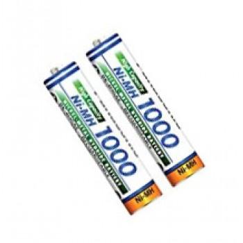 باتری نیم قلمی AAA - شارژی DBK 1000mAh - بسته 2 عددی