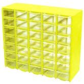 جعبه قطعات 35 کشو (5*7) زرد (با جدا کننده داخلی)