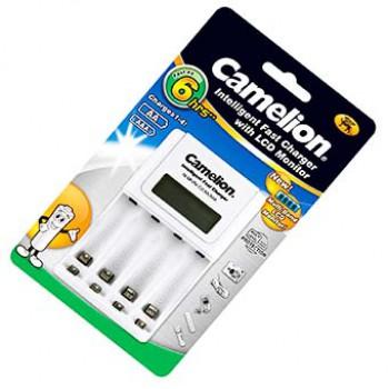 شارژر 4 تایی (نیم قلمی + قلمی) نمایشگر دار - CAMELION 907
