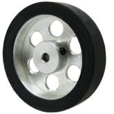 چرخ 3 سانتی متر آلومینیومی با سوراخ 3