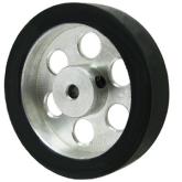 چرخ 4 سانتی متر آلومینیومی با سوراخ 4