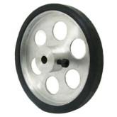 چرخ آلومینیومی روکش دار 7 سانتی متر | سوراخ 4 میل