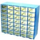 جعبه قطعات 35 کشو (5*7) آبی