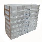 جعبه قطعات 21 کشو (7 طبقه - 2 سایز) سفید