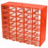 جعبه قطعات 35 کشو (5*7) قرمز (با جدا کننده داخلی)