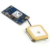 ماژول GPS مدل UBLOX NEO-6M + برد ارتباطی + آنتن