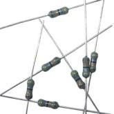 مقاومت 1 مگا اهم - 1/4 وات - 1 درصد - بسته 10 تایی