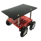 شاسی روبات مستطیلی 4 چرخ (شاسی + موتور + چرخ)