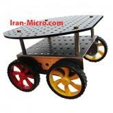 شاسی روبات گرد 4 چرخ (شاسی + موتور + چرخ)